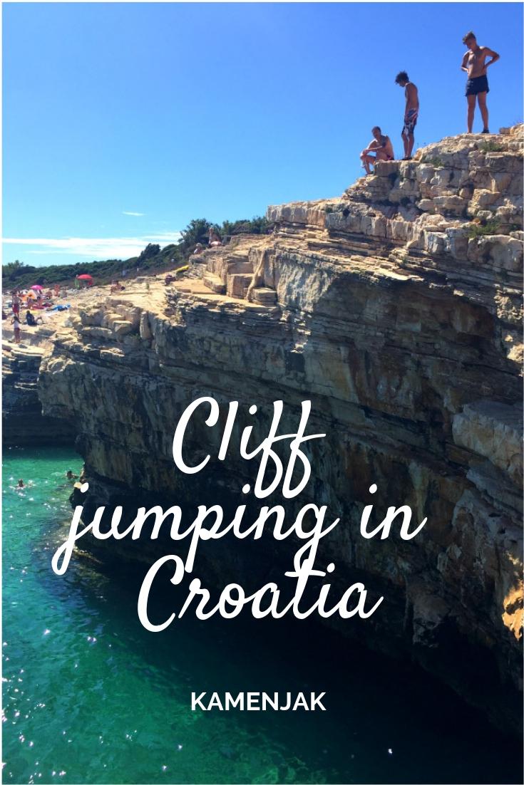Cliff jumping in Croatia