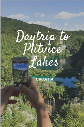 Day trip to Plitvice Lakes, the beautiful national park in Croatia.