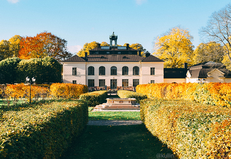 Näsby Slott park in fall