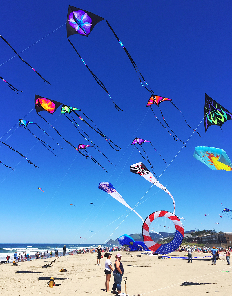 kites in Lincoln City at the festival