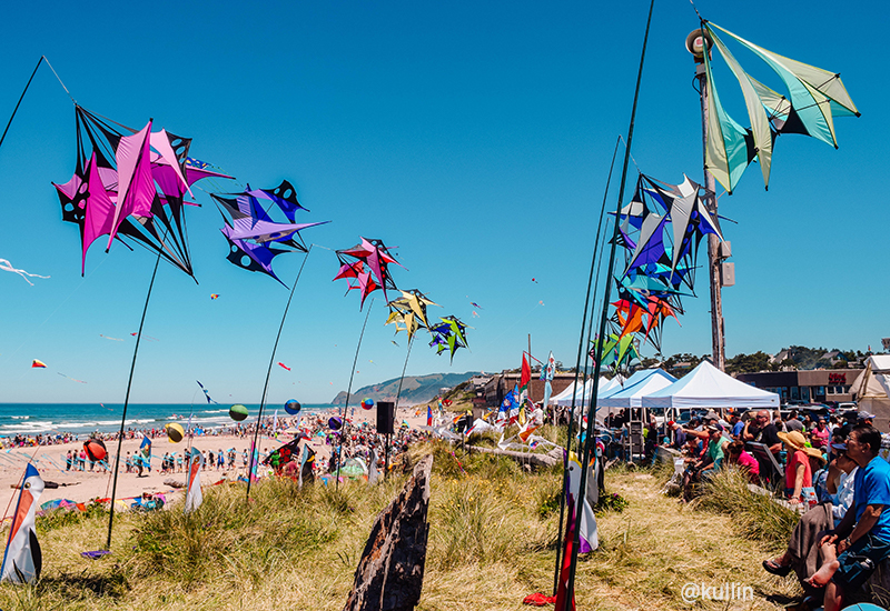 Kites at the beach in Oregon