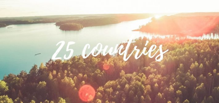 25 countries visited