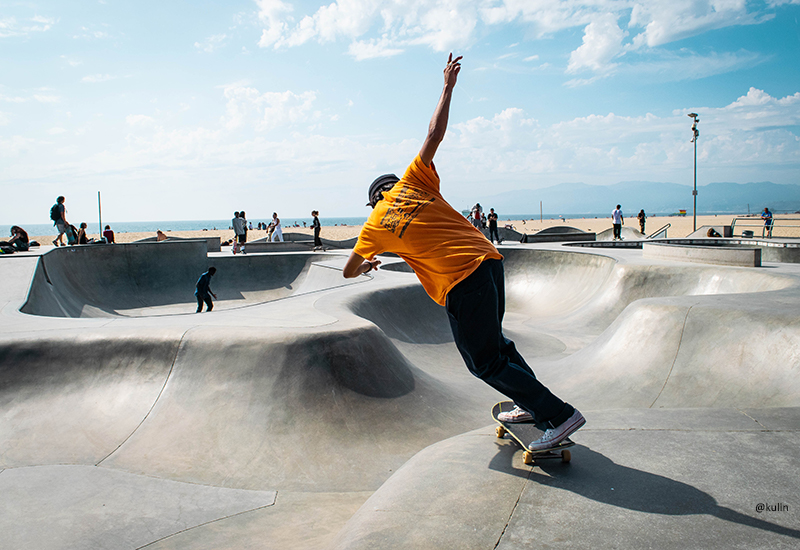 Skateboarder at Venice Beach, Los Angeles