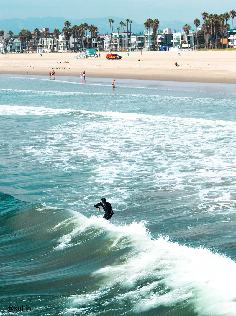 Surfer at Venice Beach, Los Angeles