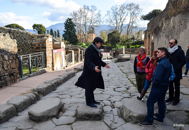 Tour guide Pompeii